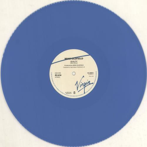 "Mike Oldfield Guilty - Blue Vinyl 12"" vinyl single (12 inch record / Maxi-single) UK OLD12GU748251"