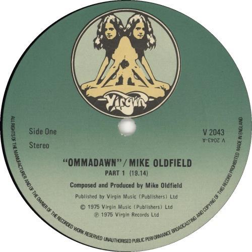 Mike Oldfield Ommadawn - 3rd vinyl LP album (LP record) UK OLDLPOM693255