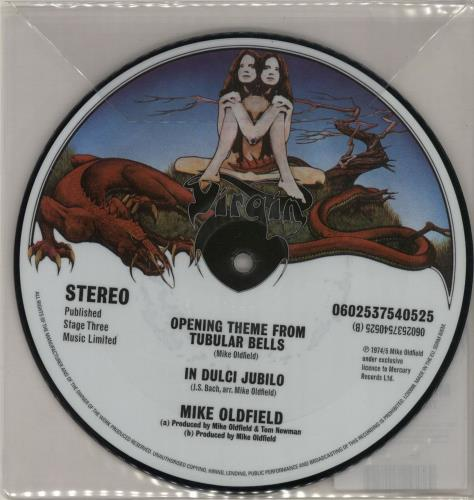 """Mike Oldfield Opening Theme From Tubular Bells 7"""" vinyl picture disc 7 inch picture disc single UK OLD7POP600800"""