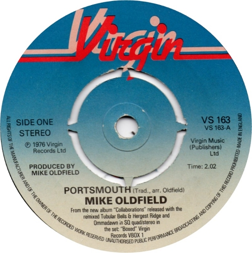 "Mike Oldfield Portsmouth - 4pr 7"" vinyl single (7 inch record) UK OLD07PO153936"