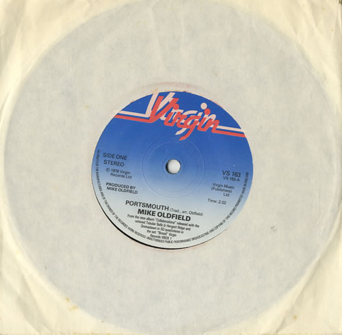 """Mike Oldfield Portsmouth - Solid 7"""" vinyl single (7 inch record) UK OLD07PO566443"""