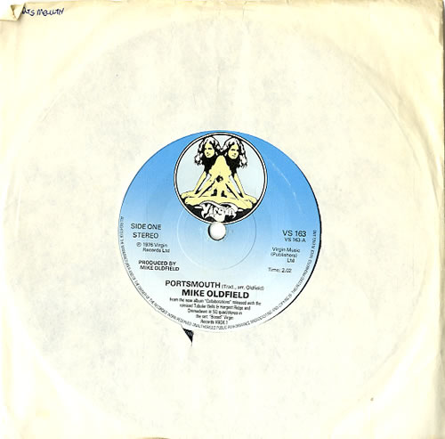 "Mike Oldfield Portsmouth - Two Virgins Label 7"" vinyl single (7 inch record) UK OLD07PO622987"
