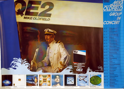 Mike Oldfield QE2 poster German OLDPOQE618105