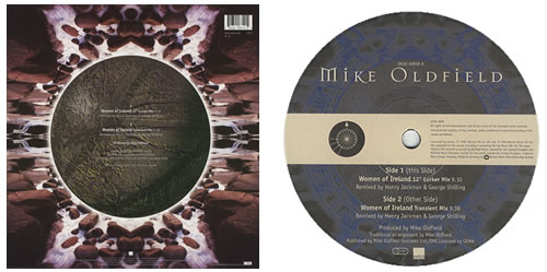 "Mike Oldfield Women Of Ireland 12"" vinyl single (12 inch record / Maxi-single) German OLD12WO96310"