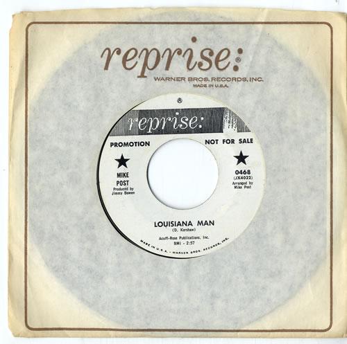 "Mike Post Louisiana Man - A Label 7"" vinyl single (7 inch record) US IKE07LO614256"