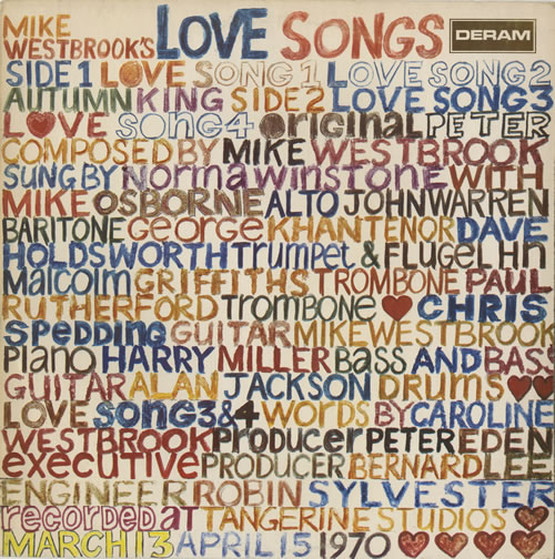 Mike Westbrook Love Songs vinyl LP album (LP record) UK WBKLPLO469924