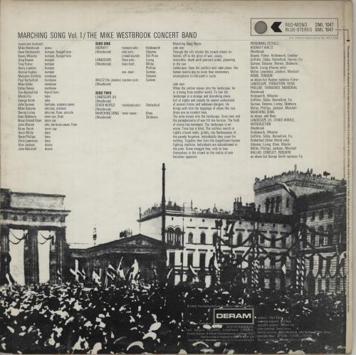 Mike Westbrook Marching Song Vol. 1 - 1st vinyl LP album (LP record) UK WBKLPMA675248