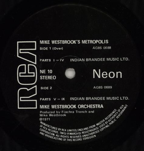 Mike Westbrook Metropolis - VG vinyl LP album (LP record) UK WBKLPME756145