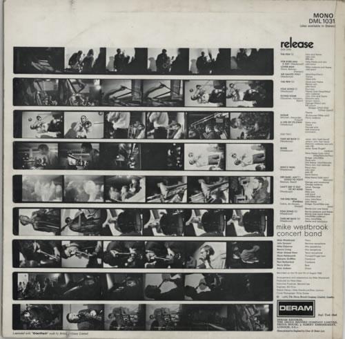 Mike Westbrook Release vinyl LP album (LP record) UK WBKLPRE595373