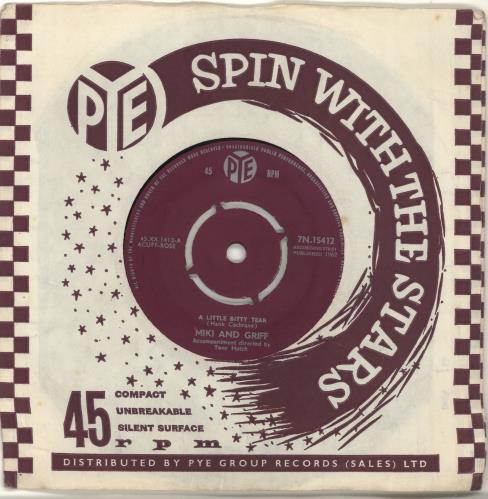 "Miki & Griff A Little Bitty Tear 7"" vinyl single (7 inch record) UK M+G07AL420763"