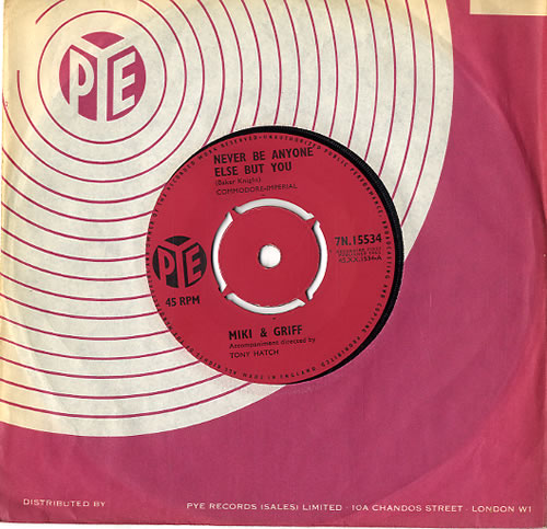 """Miki & Griff Never Be Anyone Else But You 7"""" vinyl single (7 inch record) UK M+G07NE591979"""