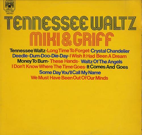 Miki & Griff Tennessee Waltz vinyl LP album (LP record) UK M+GLPTE395606