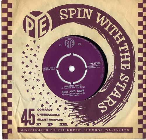 "Miki & Griff Tennessee Waltz 7"" vinyl single (7 inch record) UK M+G07TE591977"