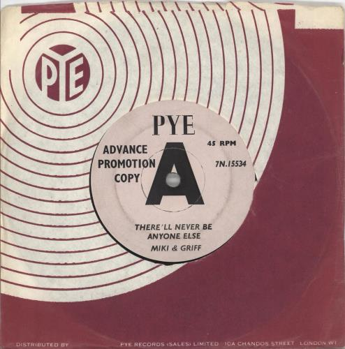 """Miki & Griff There'll Never Be Anyone Else 7"""" vinyl single (7 inch record) UK M+G07TH707990"""