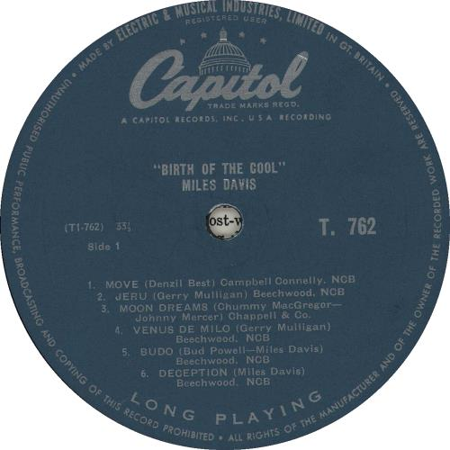 Miles Davis Birth Of The Cool - 1st - turquoise label vinyl LP album (LP record) UK MDALPBI362952