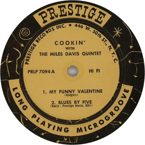 Miles Davis Cookin' - W. 50th N.Y.C. vinyl LP album (LP record) US MDALPCO629230