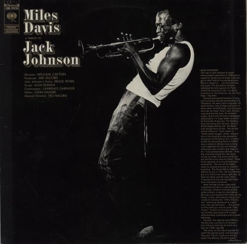 Miles Davis Jack Johnson vinyl LP album (LP record) Dutch MDALPJA582884