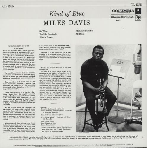 Miles Davis Kind Of Blue - Mono - 180gm Vinyl - Sealed vinyl LP album (LP record) UK MDALPKI753913