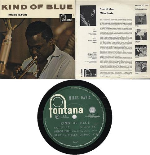 Miles Davis Kind Of Blue vinyl LP album (LP record) French MDALPKI298958