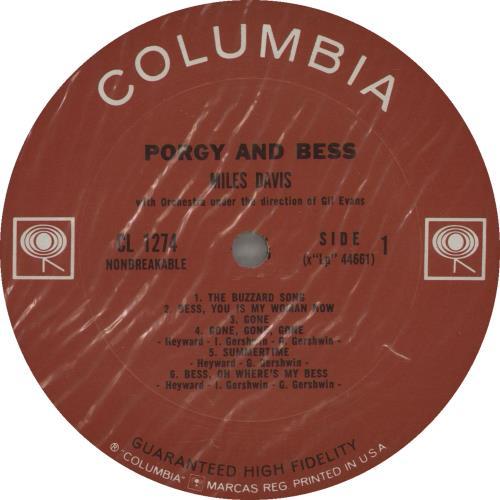 Miles Davis Porgy And Bess - Two Eye - Sealed Vinyl vinyl LP album (LP record) US MDALPPO671439