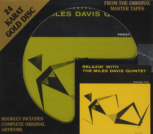 Miles Davis Relaxin' With The Miles Davis Quintet CD album (CDLP) US MDACDRE428661