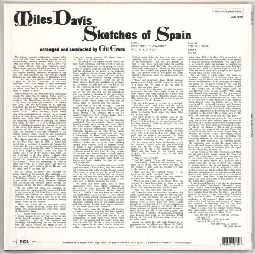Miles Davis Sketches Of Spain - 180gram Vinyl + Shrinkwrap vinyl LP album (LP record) UK MDALPSK738782