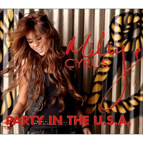 """Miley Cyrus Party In The U.S.A. CD single (CD5 / 5"""") UK MYCC5PA487341"""