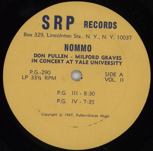 Milford Graves Nommo - 1st + PR enclosure vinyl LP album (LP record) US Q0LLPNO761650