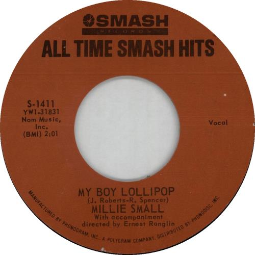 """Millie Small My Boy Lollipop - wide centered 7"""" vinyl single (7 inch record) US MS-07MY643606"""
