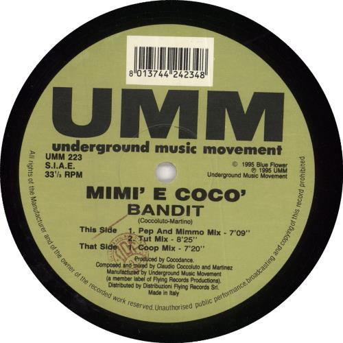 """Mimi' E Coco' Bandit 12"""" vinyl single (12 inch record / Maxi-single) Italian 0IM12BA726719"""
