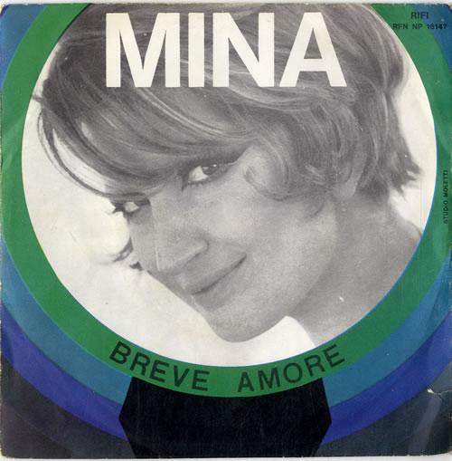 "Mina Breve Amore 7"" vinyl single (7 inch record) Italian MA907BR614008"