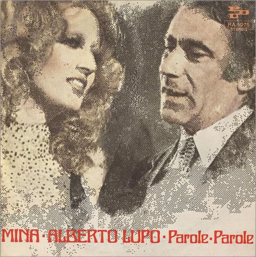 "Mina Parole, Parole 7"" vinyl single (7 inch record) Italian MA907PA493055"