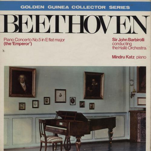 """Mindru Katz Beethoven: Piano Concerto No. 5 In E Flat Major, Op. 73 (""""The Emperor"""") vinyl LP album (LP record) UK 203LPBE760971"""