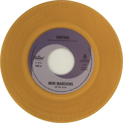 "Mini Mansions Vertigo - Orange Vinyl 7"" vinyl single (7 inch record) US N6P07VE680595"
