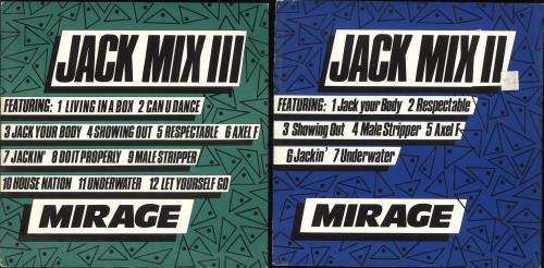 "Mirage Jack Mix II & III 12"" vinyl single (12 inch record / Maxi-single) UK MIE12JA713336"