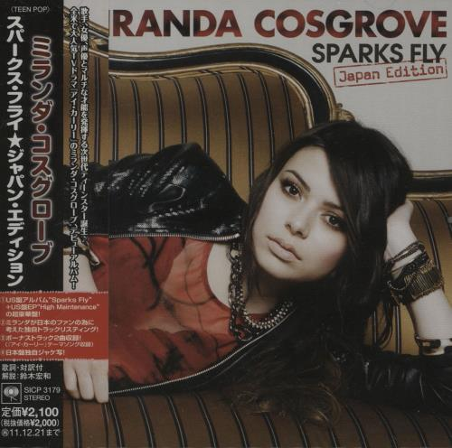 Miranda Cosgrove Sparks Fly (Japan Edition) + Obi CD album (CDLP) Japanese OX-CDSP670600