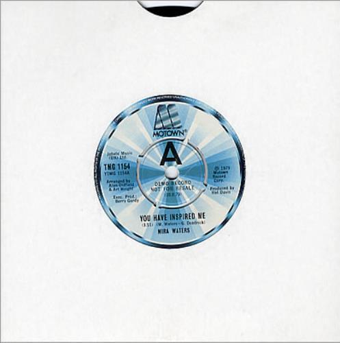 "Mira Waters You Have Inspired Me 7"" vinyl single (7 inch record) UK MI407YO350179"