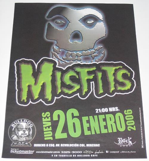 Misfits Bulldog Cafe poster Mexican MFTPOBU354553