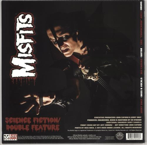 "Misfits Descending Angel -  Black With White And Grey Splatter 12"" vinyl single (12 inch record / Maxi-single) US MFT12DE722479"