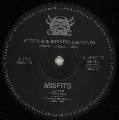 Misfits Earth A.D. / Wolfsblood vinyl LP album (LP record) German MFTLPEA765704