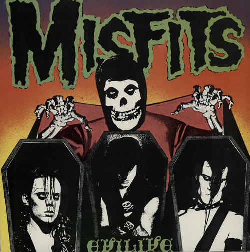 Misfits Evilive vinyl LP album (LP record) US MFTLPEV571336