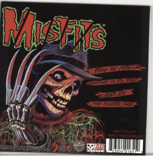"Misfits Friday The 13th - Bone With Red Blood Splatter 12"" vinyl single (12 inch record / Maxi-single) US MFT12FR722473"