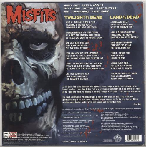 "Misfits Twilight Of The Dead - Glow in Dark 12"" vinyl single (12 inch record / Maxi-single) US MFT12TW722469"
