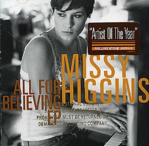"Missy Higgins All For Believing EP CD single (CD5 / 5"") US MHZC5AL327660"