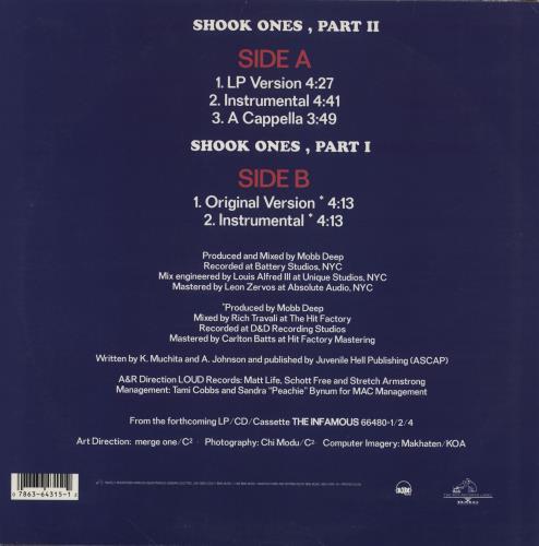"Mobb Deep Shook Ones Part II 12"" vinyl single (12 inch record / Maxi-single) US MBB12SH758428"