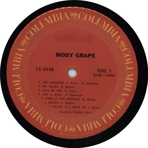 Moby Grape Moby Grape vinyl LP album (LP record) US MBGLPMO766258