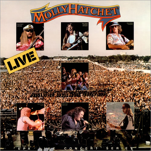 Molly Hatchet Live Us Promo 2 Lp Vinyl Record Set Double