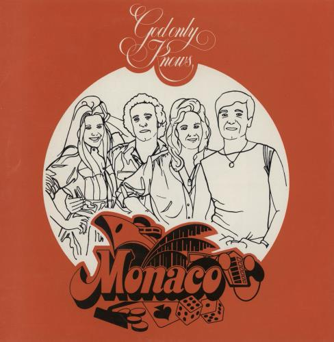 "Monaco God Only Knows 7"" vinyl single (7 inch record) UK MNA07GO239527"