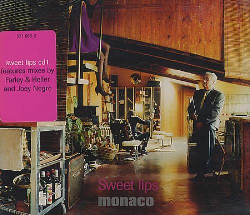 "Monaco Sweet Lips - CD1 CD single (CD5 / 5"") UK MNAC5SW93736"