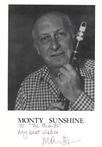 Monty Sunshine Live + Autographed Photo vinyl LP album (LP record) German 1MSLPLI748093